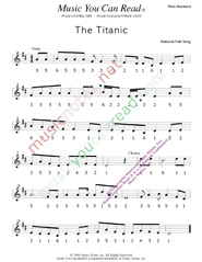 "Click to Enlarge: ""The Titanic,"" Pitch Number Format"