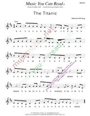 "Click to Enlarge: ""The Titanic,"" Rhythm Format"