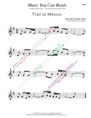 """Trail to Mexico,"" Music Format"