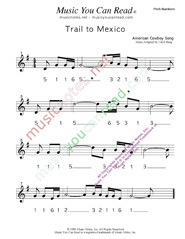 "Click to Enlarge: ""Trail to Mexico,"" Pitch Number Format"