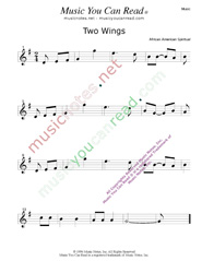 """Two Wings,"" Music Format"