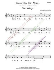 "Click to Enlarge: ""Two Wings,"" Solfeggio Format"