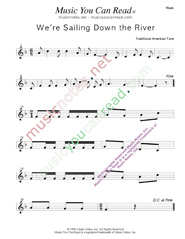 """We're Sailing Down the River,"" Music Format"