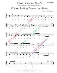 "Click to Enlarge: ""We're Sailing Down the River,"" Pitch Number Format"