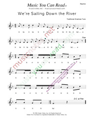 "Click to Enlarge: ""We're Sailing Down the River,"" Rhythm Format"