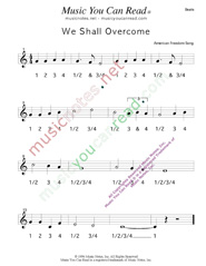 "Click to enlarge: ""We Shall Overcome,"" Beats Format"