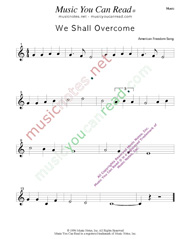 """We Shall Overcome,"" Music Format"