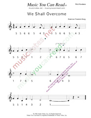 "Click to Enlarge: ""We Shall Overcome,"" Pitch Number Format"