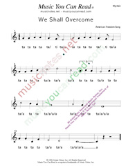 "Click to Enlarge: ""We Shall Overcome,"" Rhythm Format"