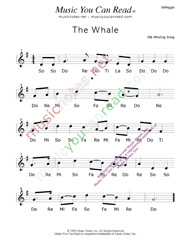 "Click to Enlarge: ""The Whale,"" Solfeggio Format"