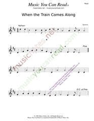 """When the Train Comes Along,"" Music Format"
