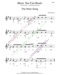 "Click to enlarge: ""The Wren Song,"" Beats Format"