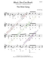 "Click to Enlarge: ""The Wren Song,"" Rhythm Format"