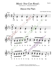 "Click to Enlarge: ""Above the Plain,"" Rhythm Format"