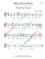 "Click to enlarge: ""Amazing Grace,"" Beats Format"