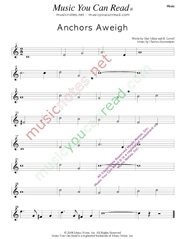 """Anchors Aweigh,"" Music Format"