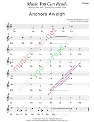 "Click to Enlarge: ""Anchors Aweigh,"" Solfeggio Format"