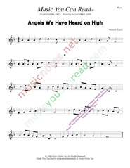 """Angels We Have Heard on High,"" Music Format"