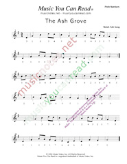 "Click to Enlarge: ""The Ash Grove,"" Pitch Number Format"