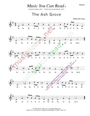 "Click to Enlarge: ""The Ash Grove,"" Rhythm Format"