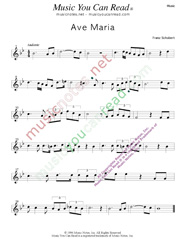 """Ave Maria,"" Music Format"