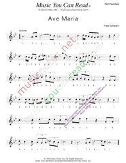 "Click to Enlarge: ""Ave Maria,"" Pitch Number Format"