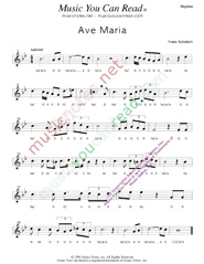 "Click to Enlarge: ""Ave Maria,"" Rhythm Format"