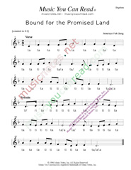 "Click to Enlarge: ""Bound for the Promised Land,"" Rhythm Format"