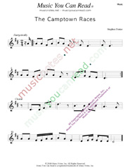 """The Camptown Races,"" Music Format"