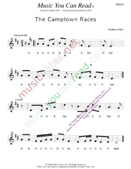 "Click to Enlarge: ""The Camptown Races,"" Rhythm Format"
