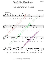 "Click to Enlarge: ""The Camptown Races,"" Solfeggio Format"