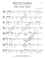 "Click to enlarge: ""Dale, Dale, Dale,"" ""Piñata Song""  Beats Format"
