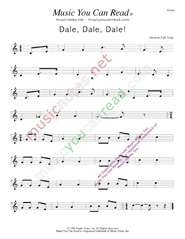 """Dale, Dale, Dale,"" ""Piñata Song""  Music Format"