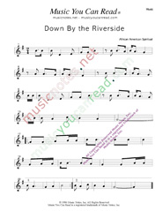 """Down By the Riverside,"" Music Format"