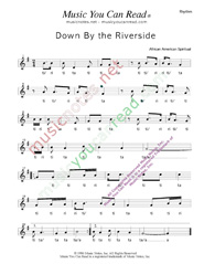"Click to Enlarge: ""Down By the Riverside,"" Rhythm Format"