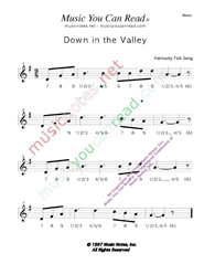 "Click to enlarge: ""Down in the Valley,"" Beats Format"