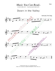 """Down in the Valley,"" Music Format"