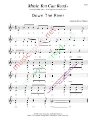 "Click to enlarge: ""Down the River,"" Beats Format"