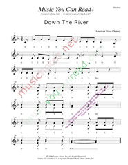 "Click to Enlarge: ""Down the River,"" Rhythm Format"