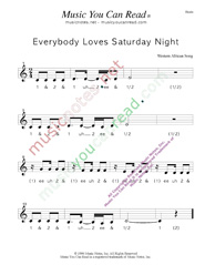 "Click to enlarge: ""Everybody Loves Saturday Night,"" Beats Format"