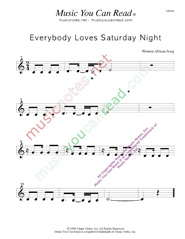 """Everybody Loves Saturday Night,"" Music Format"