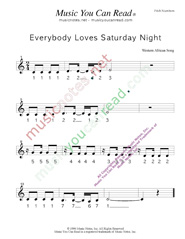 "Click to Enlarge: ""Everybody Loves Saturday Night,"" Pitch Number Format"