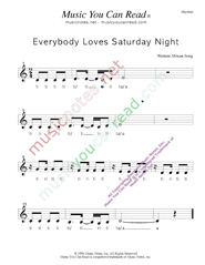 "Click to Enlarge: ""Everybody Loves Saturday Night,"" Rhythm Format"