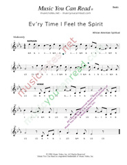 "Click to enlarge: ""Ev'ry Time I Fell the Spirit,"" Beats Format"