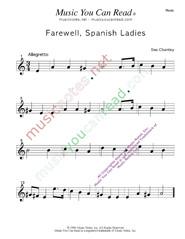 """Farewell, Spanish Ladies,"" Music Format"