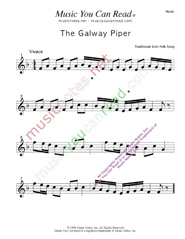 """The Galway Piper,"" Music Format"