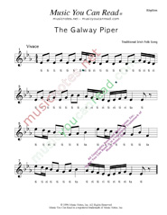 "Click to Enlarge: ""The Galway Piper,"" Rhythm Format"