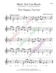 "Click to enlarge: ""The Happy Farmer,"" Beats Format"