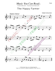 """The Happy Farmer,"" Music Format"