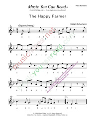 "Click to Enlarge: ""The Happy Farmer,"" Pitch Number Format"